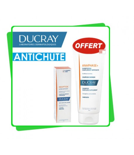 DUCRAY Pack Anti-Chute hommes Lotion NEOPTIDE + Shampooing Offert