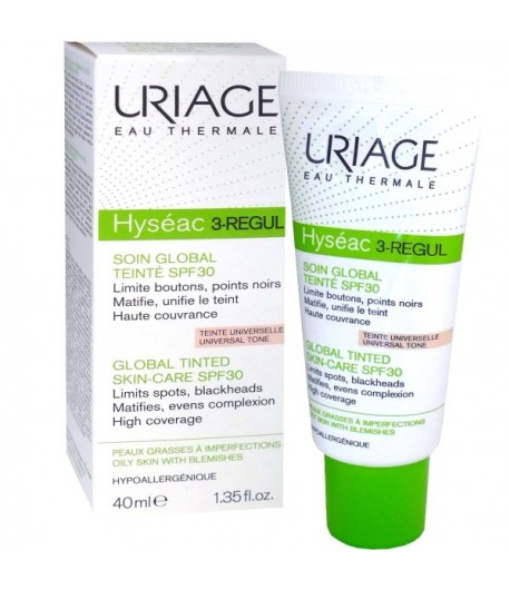 URIAGE HYSEAC 3-REGUL SOIN GLOBAL TEINTE SPF 30 40 ML